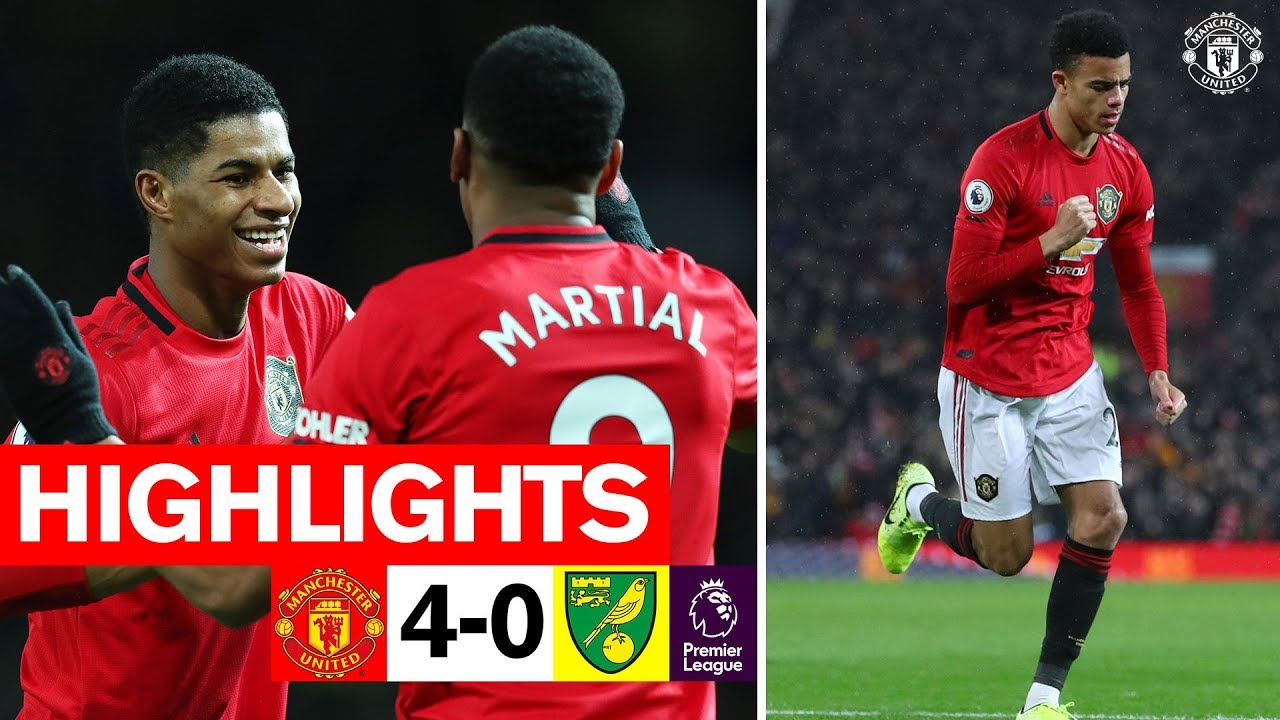 Manchester United 4-0 Norwich City: Marcus Rashford scores twice ...