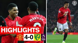 Rashford Martial amp Greenwood hand Reds the win over Norwich  United 4-0 Norwich City  Highlights