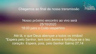 Live IPH 25/10/2020 - Culto Matutino