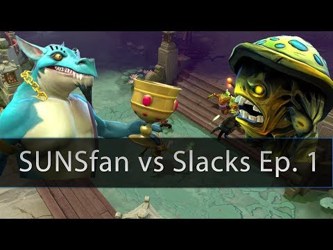 Dota 2 CHP - SUNSfan vs Slacks 5v5 Gameplay Ep. 1