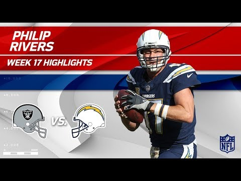 Philip Rivers Highlights | Raiders vs. Chargers | Wk 17 Player Highlights