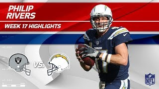 Philip Rivers Highlights   Raiders vs. Chargers   Wk 17 Player Highlights