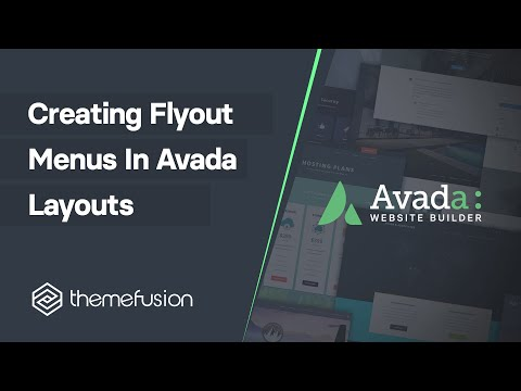 Creating Flyout Menus In Avada Layouts Video
