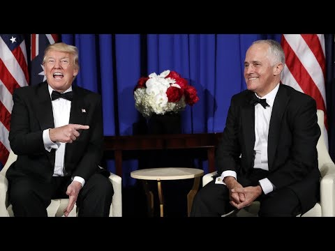 Listen to the leaked audio of Australian Prime Minister Malcolm Turnbull​ mocking Trump