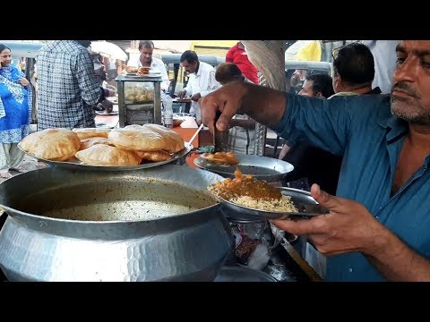 Puri Bhaji (Chole Bhature)  35 Rs | Rice Bhaji(Chaval Sabji) | Tasty Street Food Mumbai