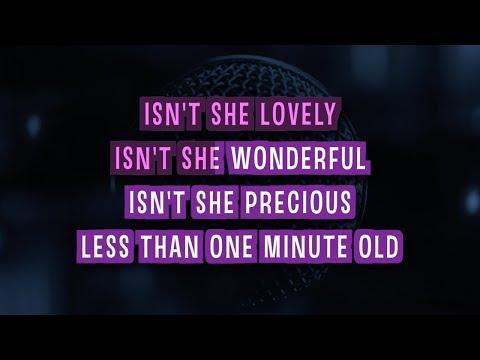Isn't She Lovely (Short Version) Karaoke Version by Stevie Wonder