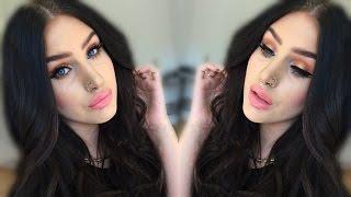 Rose gold smokey eye & pink coral lips | spring summer makeup tutorial ♡