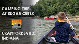 Camping at Sugar Creek Campgrounds and Canoe Rentals in Crawfordsville, IN