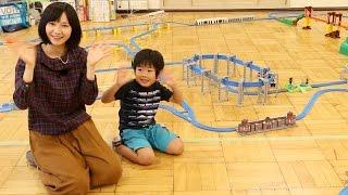 がっちゃんとプラレールで遊んだよ Playing Plarail with Gacchan!