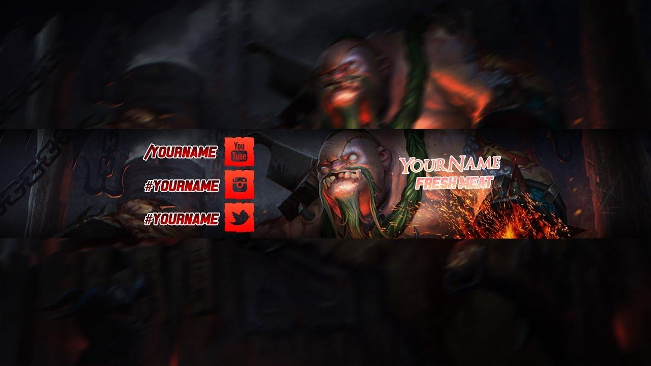 free youtube dota 2 pudge banner template 12 youtube