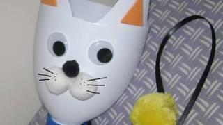 Manualidades de reciclaje: Como hacer un gato apara bolas - manualidadesconninos