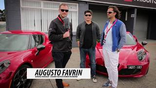 Zagame Alfa Romeo interviews 4C owners Anthony and Toli