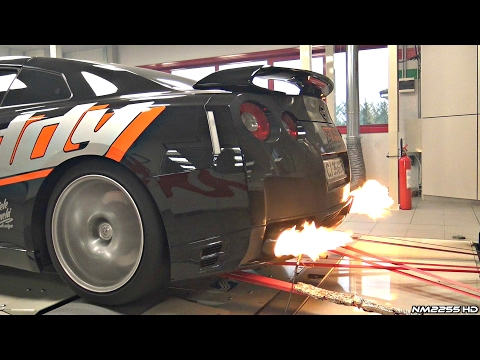 700HP Nissan GT-R With Kline Exhaust Sounds & Flames On The Dyno!