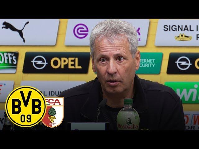 PK mit Lucien Favre   BVB - FC Augsburg 5:1
