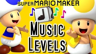 Super Mario Maker MUSIC LEVELS - DK, Zelda, Fire Emblem & More (Wii U)