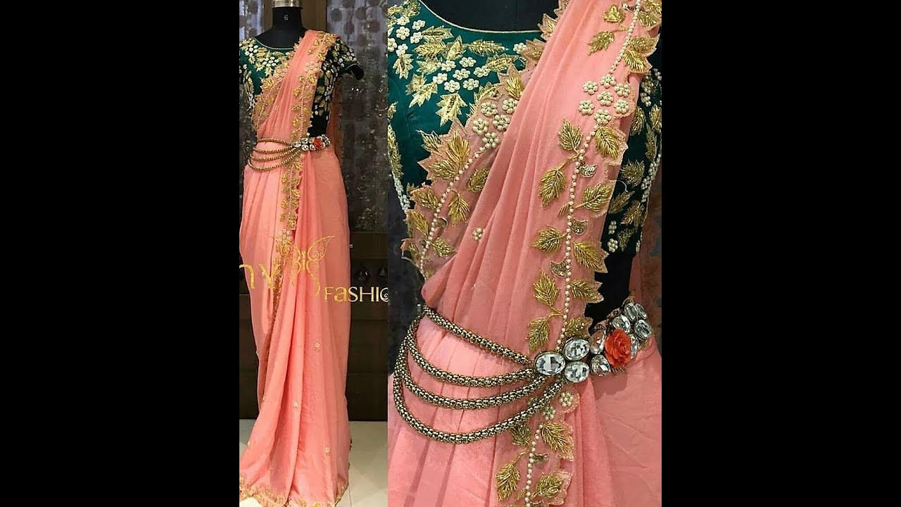How to readymade wear pleated sarees new photo