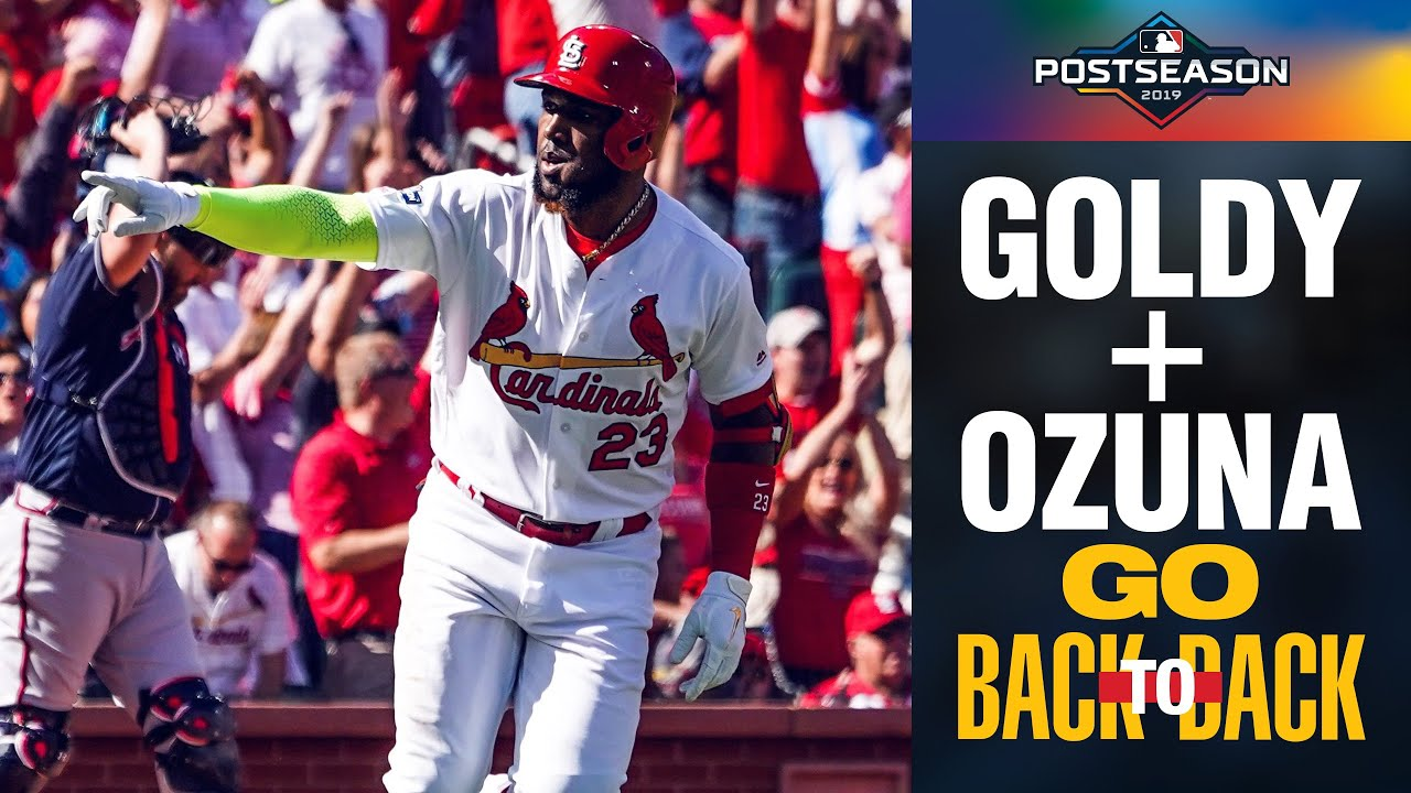 Cardinals' Paul Goldschmidt, Marcell Ozuna launch back-to-back shots in 1st! | NLDS Highlights