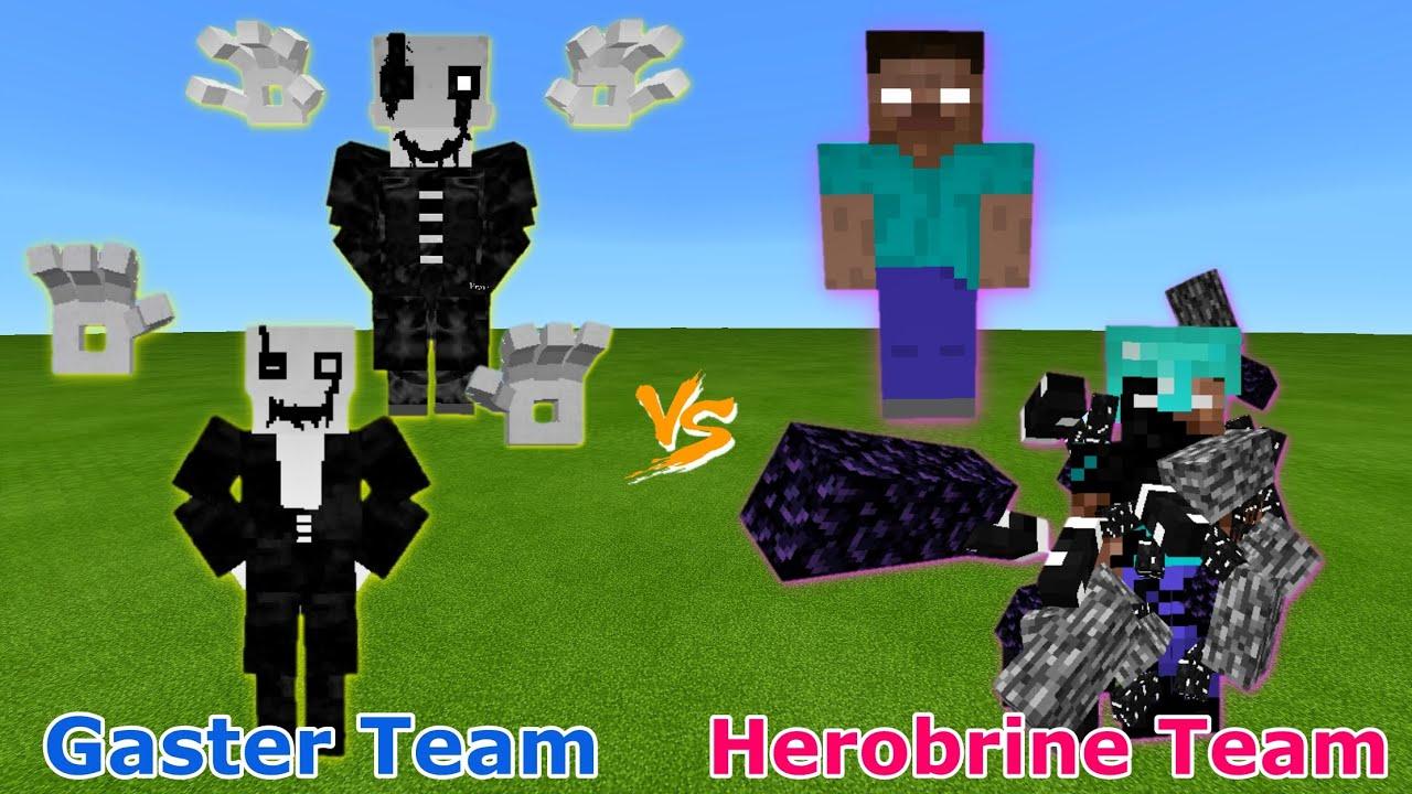Gaster Team vs. Herobrine Team | Undertale vs. Creepypasta in Minecraft | Epic Team-Up Battle