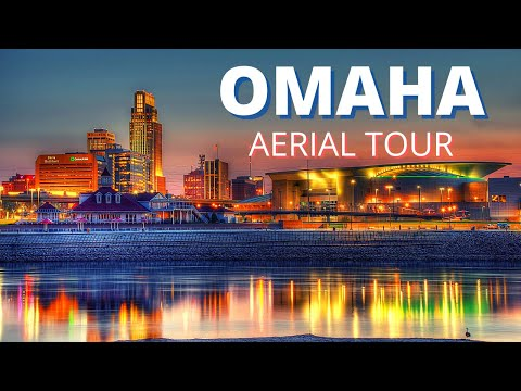 Omaha Nebraska Aerial Tour | Stunning Sunset views