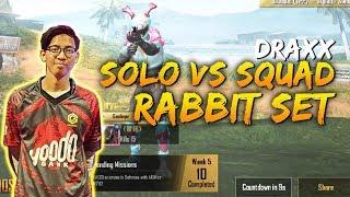 Solo Vs Squad! Draxx Gameplay with Rabbit Set PUBG Mobile Malaysia