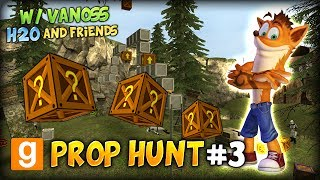 gmod funny prop hunt 3 w vanossgaming h2o and friends crash eats my apple amazing parkour