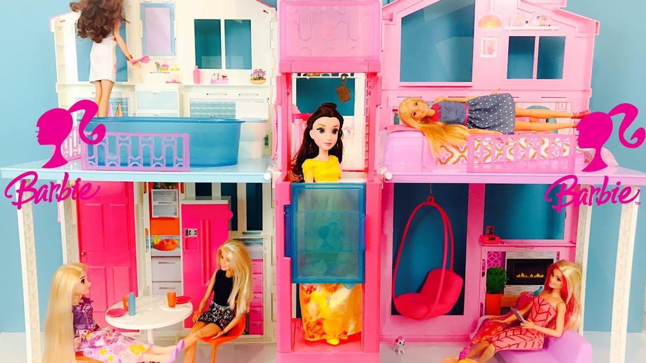 Barbie Maison De Luxe Poupee Dolls Dreamhouse 3 Story Townhouse Unboxing House Tour Youtube