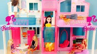 Barbie Maison de Luxe Poupée Dolls Dreamhouse 3-Story Townhouse Unboxing & House Tour