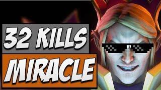 MIRACLE DOTA - Miracle Invoker with 32 KILLS   Road to Dota 2 2018