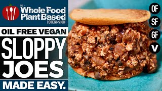 VEGAN SLOPPY JOES SANDWICH » oil-free, refined sugar-free, gluten-free & loaded with flavor!