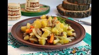 Рагу из овощей с шампиньонами в мультиварке