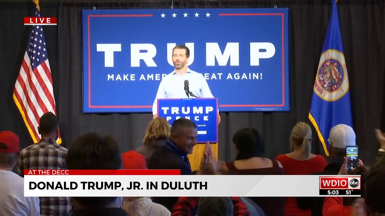 Wdio Live 2 Donald Trump Jr In Duluth Youtube