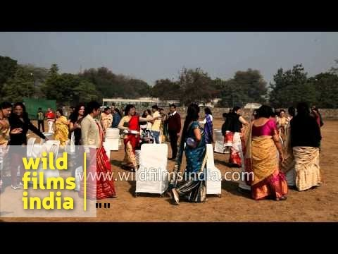 Assamese ladies play Musical Chairs :