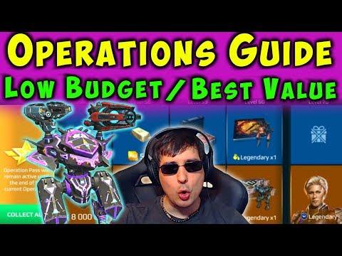 BEST VALUE - NEW Operation Pass Guide Battle Pass  War Robots 53 WR