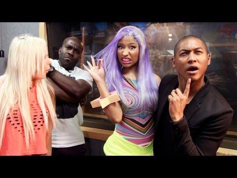 Nicki Minaj meets Rickie Melvin & Charlie at KISS FM UK