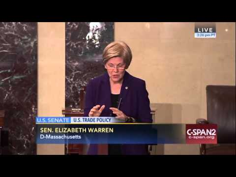 Sen. Elizabeth Warren - Congress should oppose the TPP trade deal
