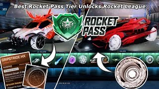 Best Rocket Pass Tier Unlocks Rocket League