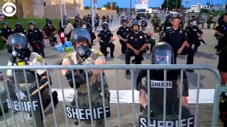 WEB EXTRA: Police Officers Kneel With Protesters in Des Moines, IA