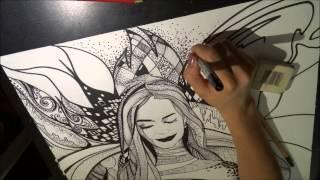 Уроки рисования  Графика  Как научиться рисовать  Мастер класс  Черно белый рисунок