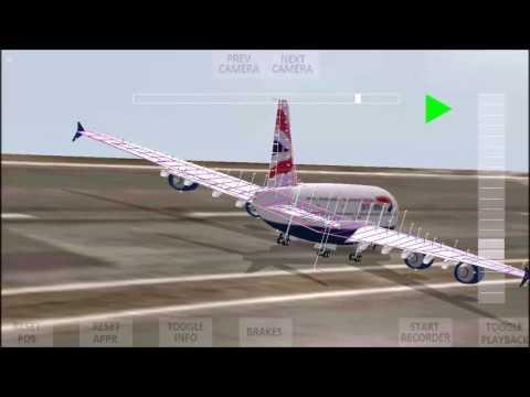 Airliner Circular Runway Approach & Landing