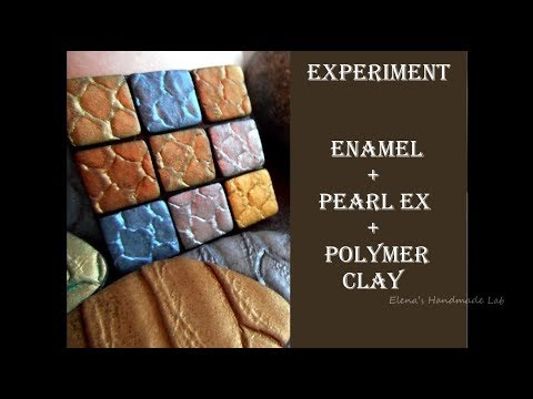 DIY|Pearl Ex + Enamel + Polymer Clay|Experiment/Перлекс + Низкотемпературная эмаль
