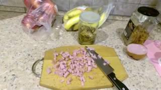 Салат маринованные опята с ветчиной. Настоящий рецепт