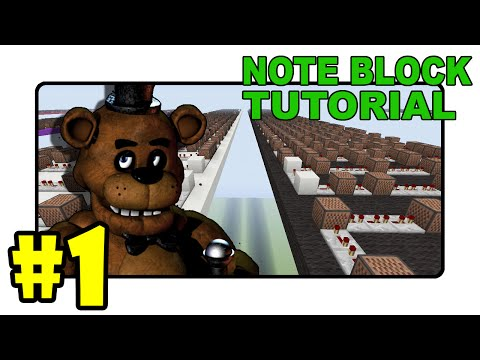 """FIVE NIGHTS AT FREDDY'S SONG! - """"Note Block Tutorial"""" Part 1 (Minecraft)"""