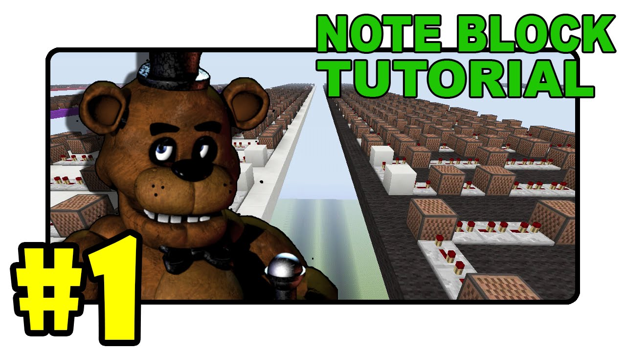 Five nights at freddy s song note block tutorial part 1 minecraft youtube