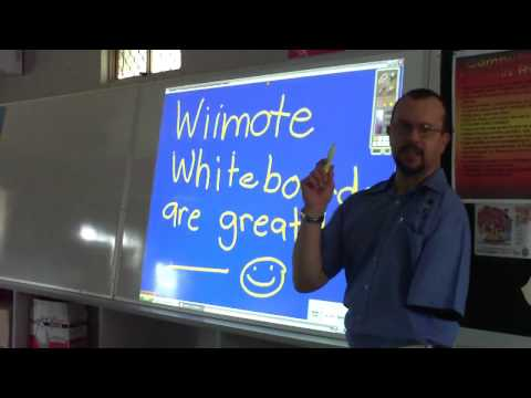 Wiimote Whiteboard Demo by Technology Integration Mentors