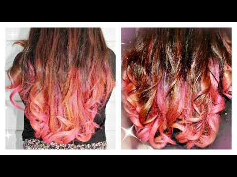 garnier color styler intense wash out hair color pink pop review demo - Garnier Color Styler