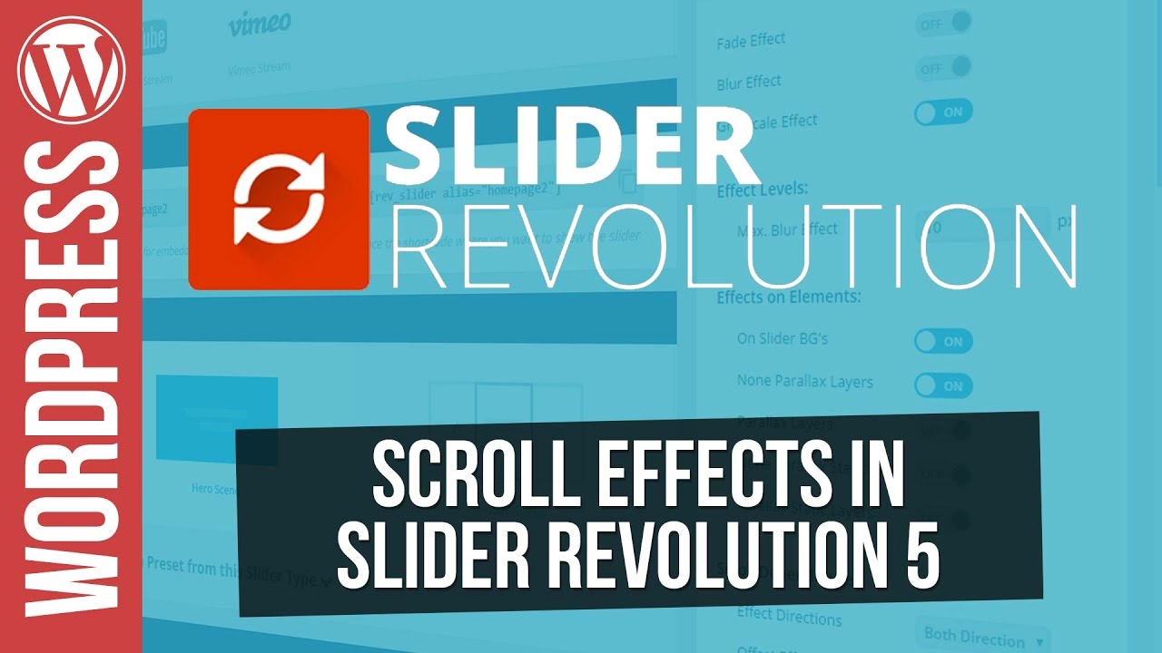 Creative Scroll Effects in SLIDER REVOLUTION 5 for Wordpress