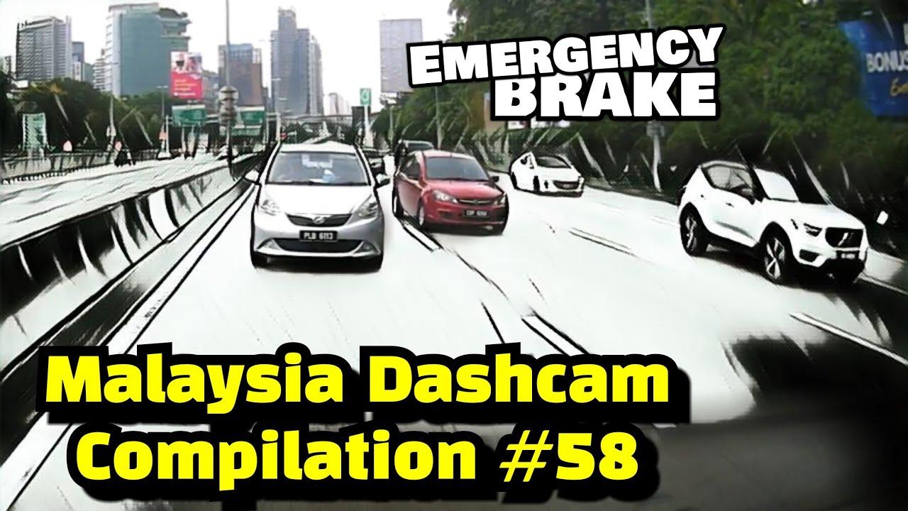 Malaysia Dashcam Compilation #58 | Myvi membrek kecemasan