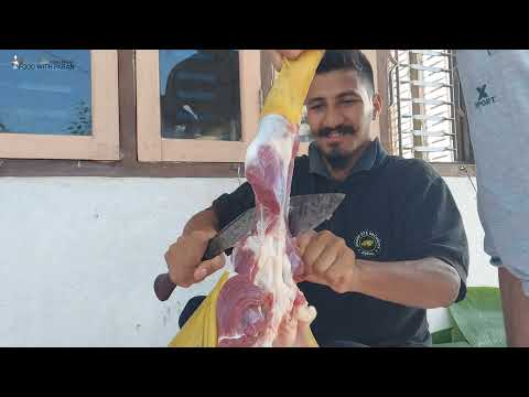 Special Goat Cutting in Nepali Festivals // Nepali traditional Goats Cutting style