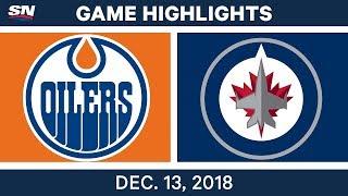NHL Highlights | Oilers vs. Jets - Dec 13, 2018