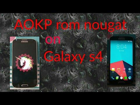 AOKP nougat rom for s4 i9500
